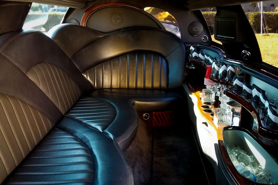 10 Passenger Limo interior.