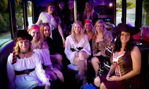Gasparilla Party Limo Bus